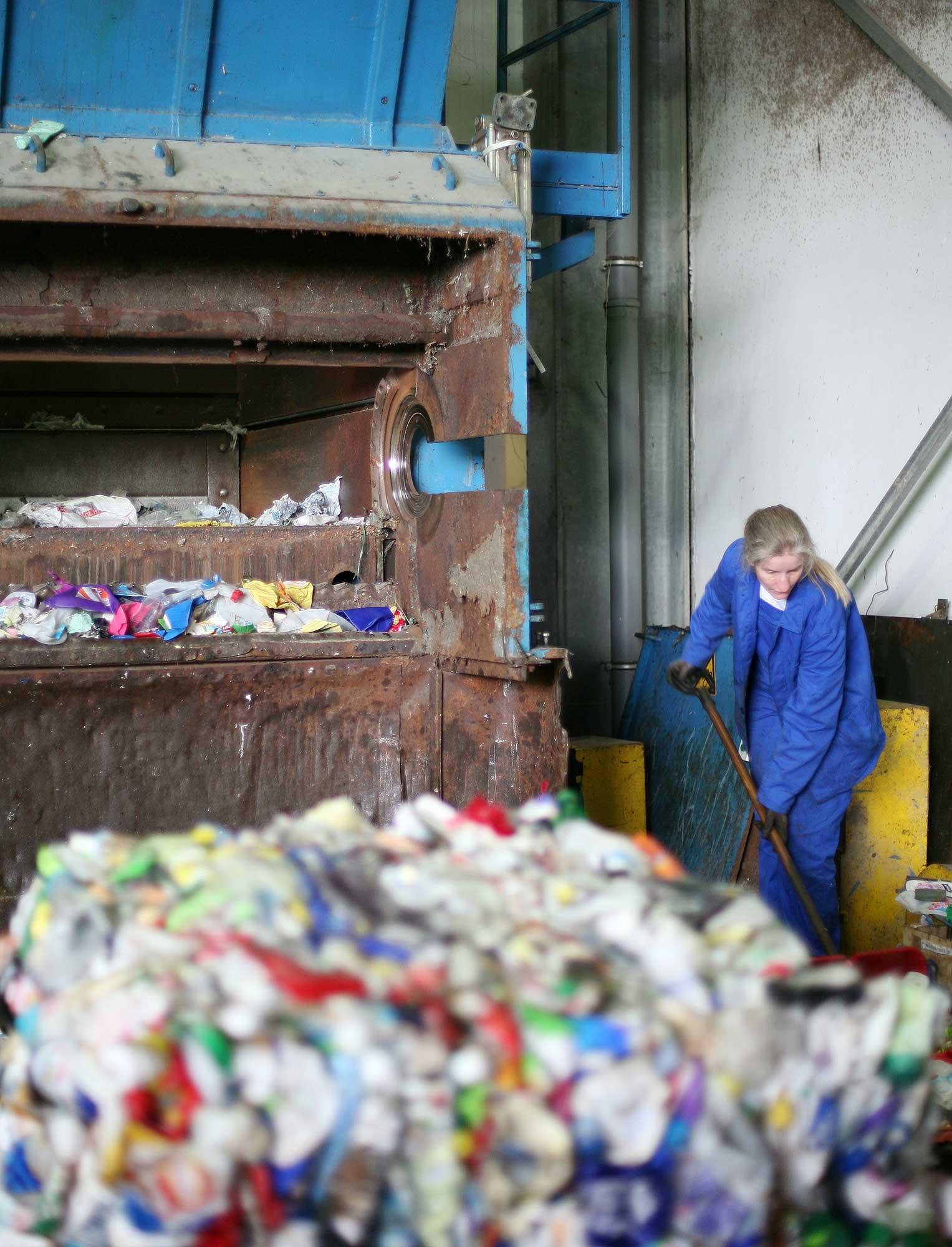 Verwertung von gebrauchten Kunststoffverpackungen