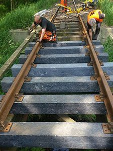 Composite railroad ties - Relux Umwelt